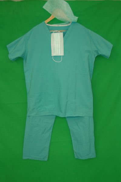 Green Surgical Scrubs Set Medical Costumes