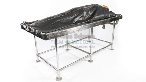 Dissection Table With Body Bag Autopsy
