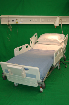 Period Bed With White Metal Frame Film Sets