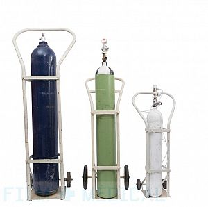 Group oxygen tanks and trolley