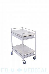 Hospital trolley with drawer