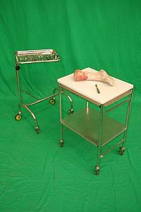 Hospital Trolley in Stainless Steel