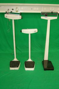 Hospital weighing scales