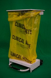 Medical Waste Bin with Yellow Bag