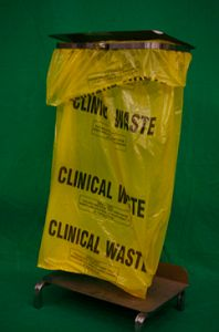 Hospital Waste Bin with Yellow Liner