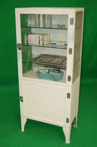 Period Single Fronted Hospital Cabinet