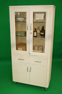 Period Double Fronted Hospital Cabinet dressed