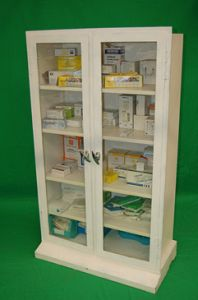 Double Fronted Medical Cabinet