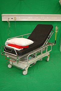 Patient Trolley in Black and Grey Finish