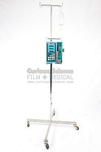 Infusion Pump / Syringe Driver and drip bag on stand