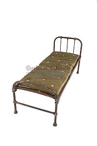 Period Hospital Bed and Horsehair Mattress