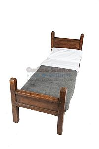 Monastry Bed with Grey Linen Set