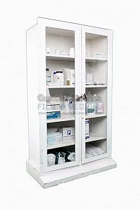 Period Double Fronted Hospital Cabinet