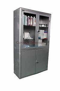 Double Fronted Hospital Cabinet with soft dressing