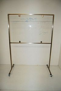 Glass incident / lab display panel on stand