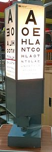 Illuminated rotary eye chart