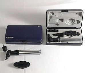 Ophthalmascope & Otoscope cased set