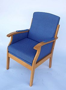 Blue visitor chair.
