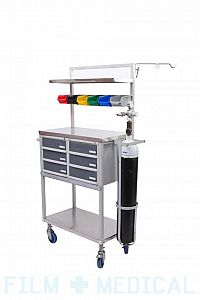 Medical Trolley with Oxygen Bottle