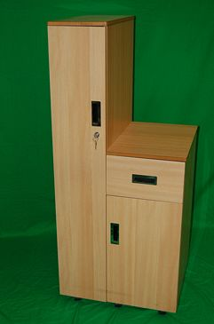 Hospital Bed Side Cabinet with Hanging Compartment