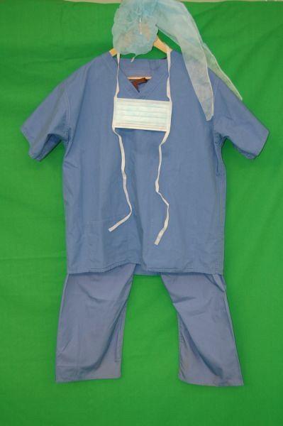 Blue Surgical Scrubs Set