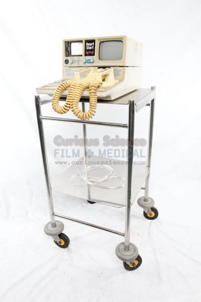Defibrillator on stainles steel trolley