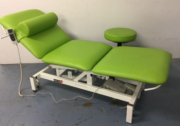 Physio examination couch and matching stool