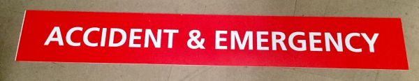 Large A and E sign