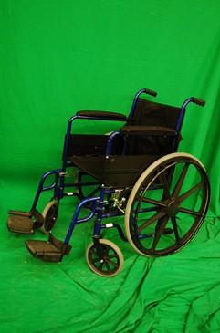 Blue and Black Wheelchair