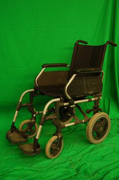 Alloy and Black Wheelchair.