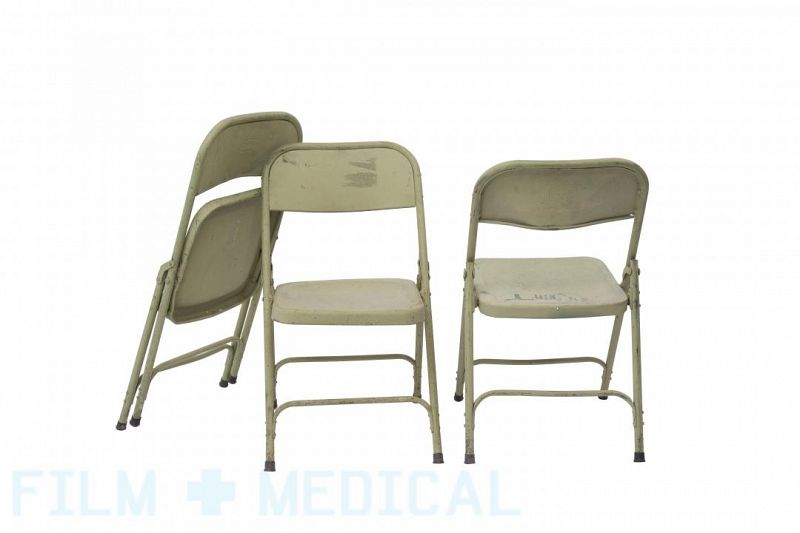 Metal army chairs