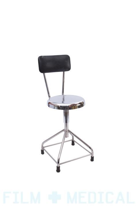 Metal surgeon stool