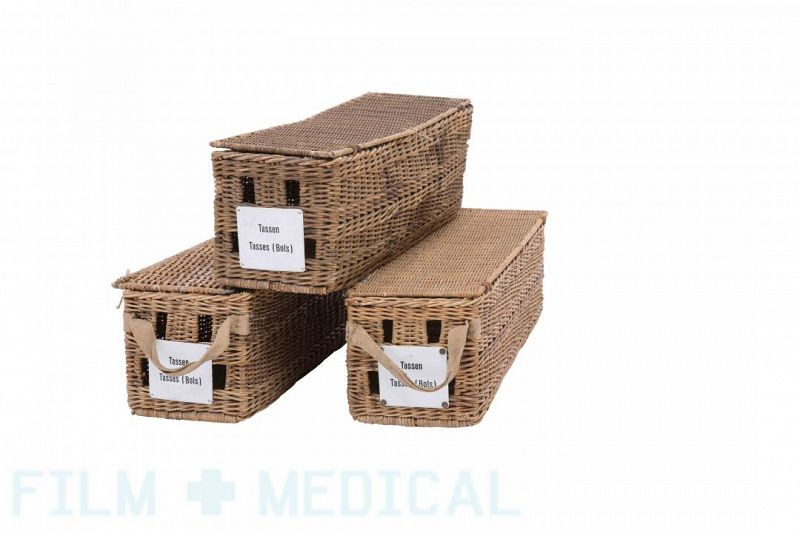 Period dressing cases wicker