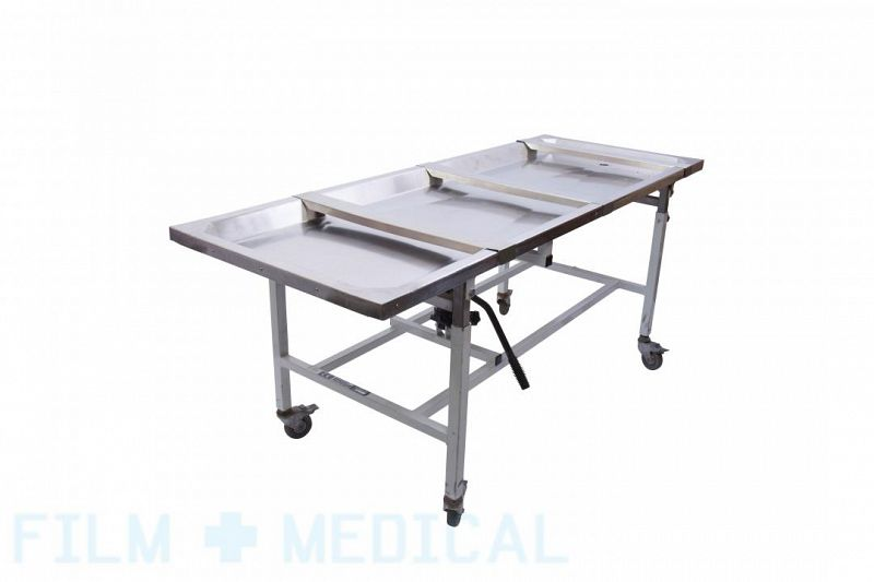 Stainless steel mortuary trolley